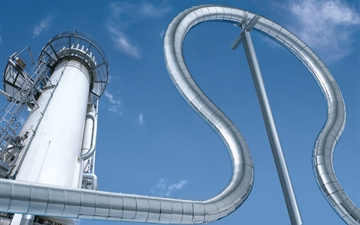 Pipe spiral with air separation column.