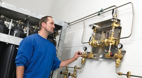 Picture of central gas system